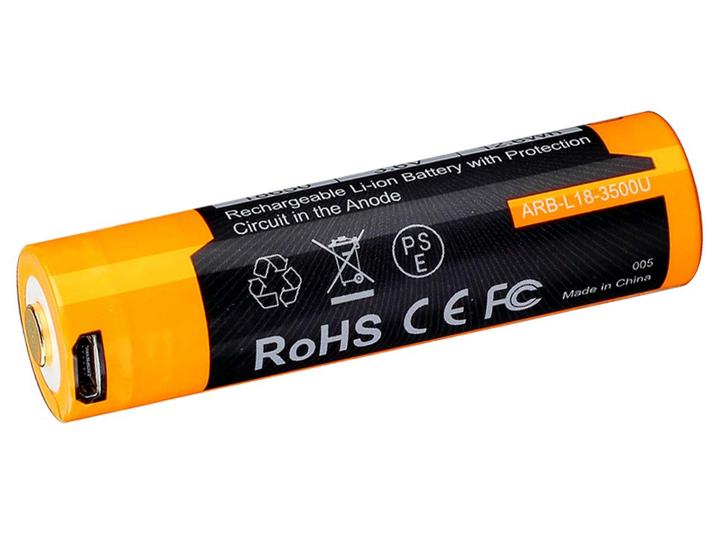 Fenix 18650 - 3500mAh - Acumulator cu Micro-USB - ARB-L 18-3500U