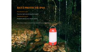 FENIX CL26R - Lanternă camping - 400 Lumeni - 25 metri - Roșu