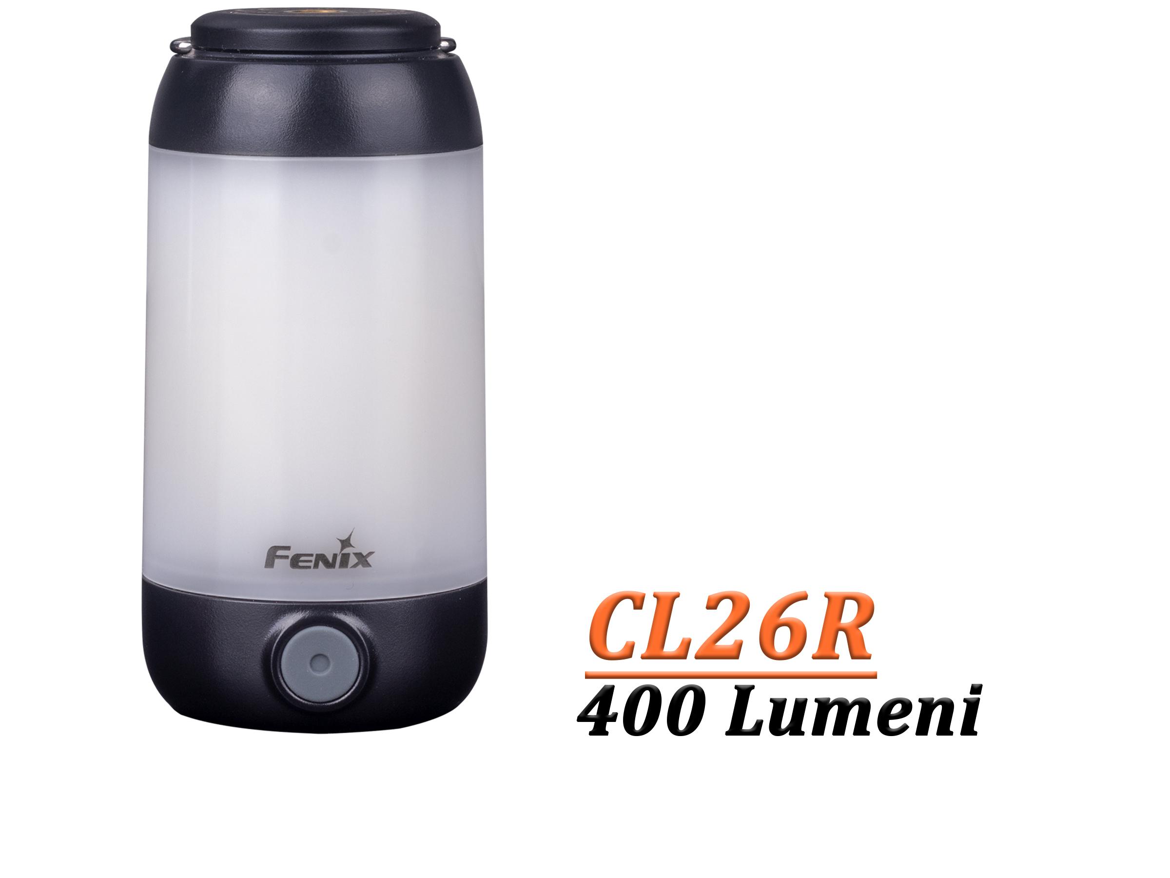 FENIX CL26R - Lanternă camping - 400 Lumeni - 25 metri - Negru
