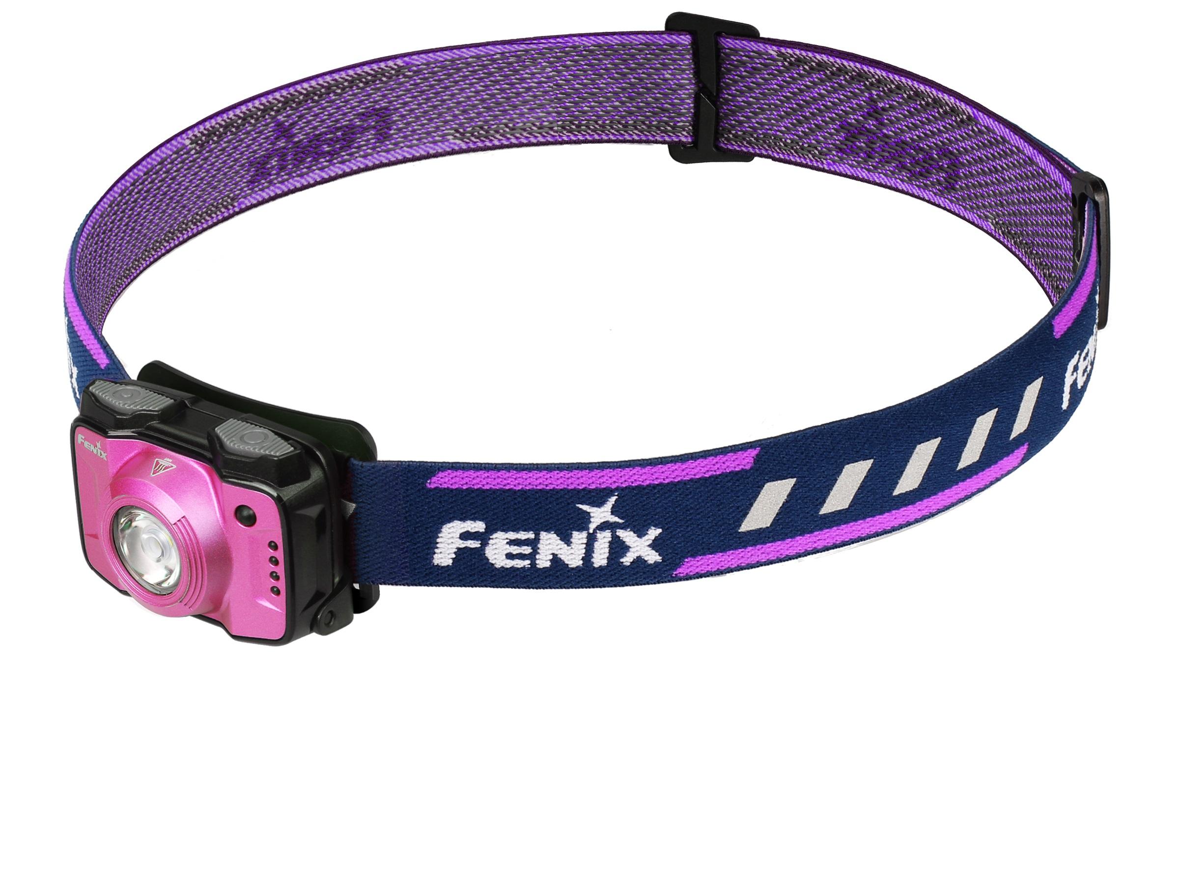 Fenix HL12R - Lanternă Frontală Reîncărcabilă - 400 Lumeni - 64 Metri - Violet