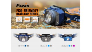 Fenix HL32R - Lanternă Frontală Reîncărcabilă - 600 Lumeni - 73 Metri - Albastru