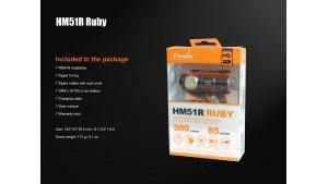 Fenix HM51R Ruby - Lanternă frontală - 500 Lumeni - 85 Metri
