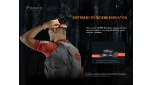 Fenix HM65R-T - Lanternă frontală - 1500 Lumeni - 170 Metri