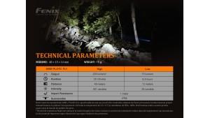Fenix E02R - EDC - 200 lumeni - 49 metri - Black