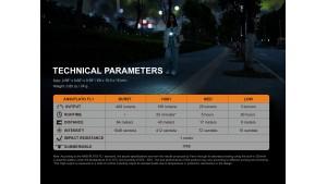 Fenix E05R - EDC - 400  lumeni - 64 metri - Black