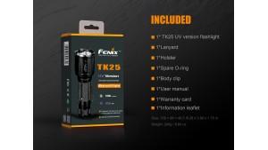 Fenix TK25 - Versiune UV - Lanternă Tactică - 1000 Lumeni - 225 Metri