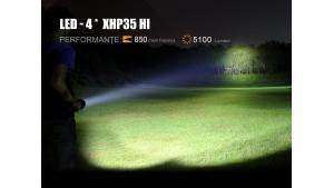Fenix TK75 -  Ediție 2018 - Lanternă Tactică - 5100 Lumeni - 850 Metri