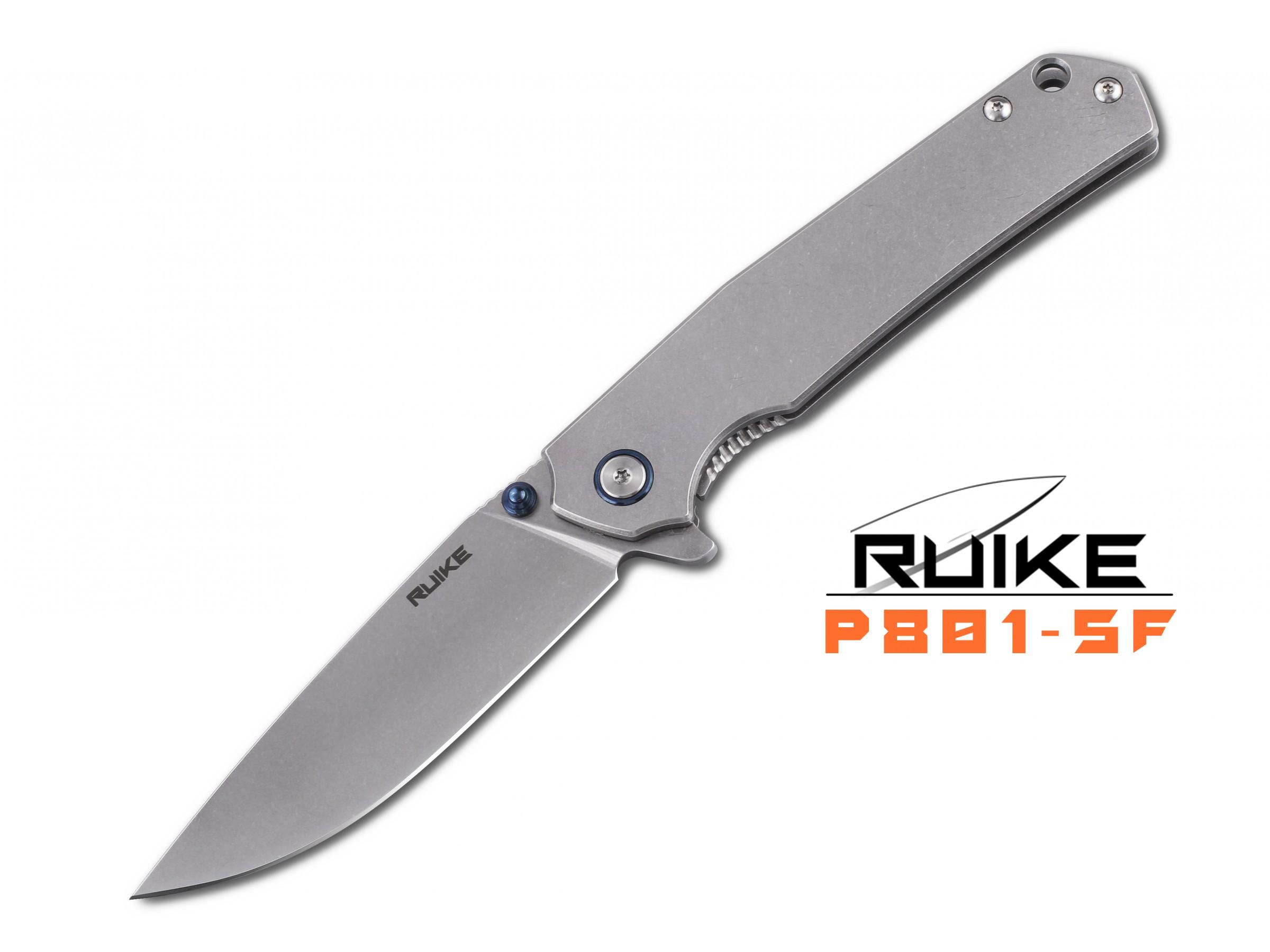 Ruike - P801 - Briceag - Oțel 14C28N - Silver Finish