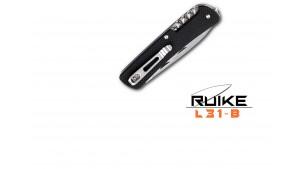 Ruike - L31 - Cuțit multifuncțional - 18 funcții - Oțel 12C27 - Negru