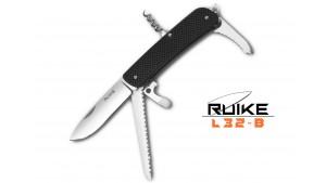 Ruike - L32 - Cuțit multifuncțional - 9 funcții - Oțel 12C27 - Negru