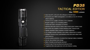 Fenix PD35 - Tactical - Negru